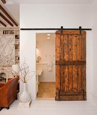 A Vintage Bathroom Door
