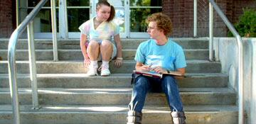 Tina Majorino and Jon Heder in Fox Searchlight's Napoleon Dynamite