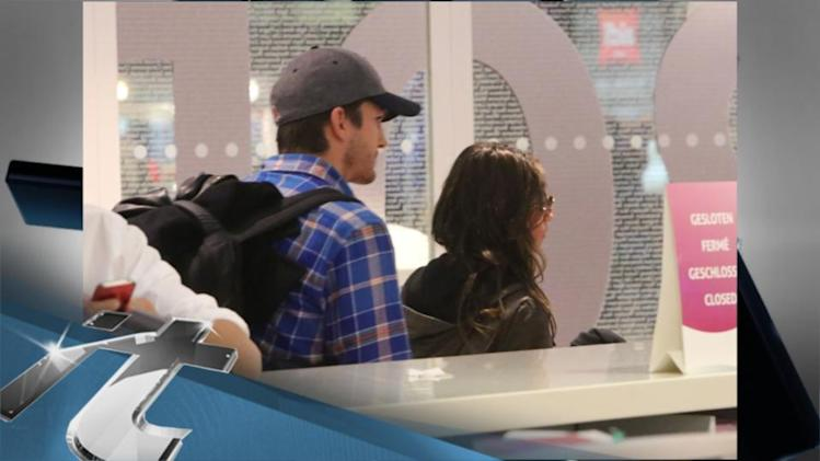 LONDON Breaking News: Ashton Kutcher & Mila Kunis Get Phoney On A London Lunch Date!