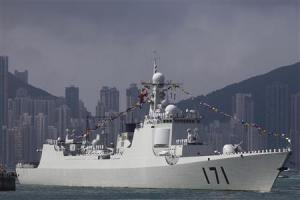 File photo of Chinese navy's guided missile destroyer …