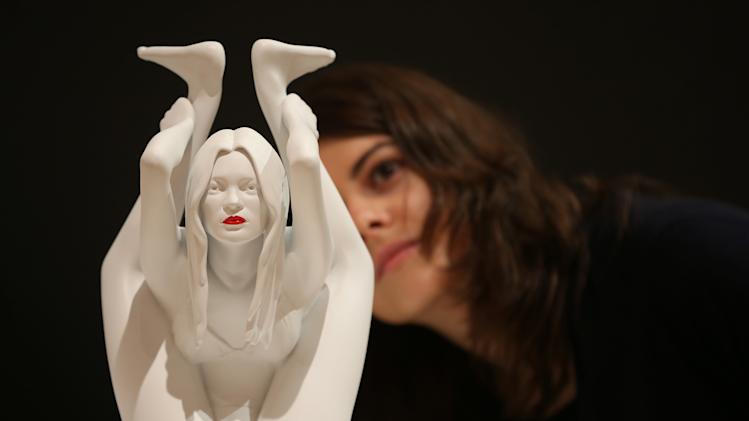 Marc Quinn's Kate Moss Sculpture Is Displayed Before Auction As Part Of Bonhams Contemporary Art And Design Sale