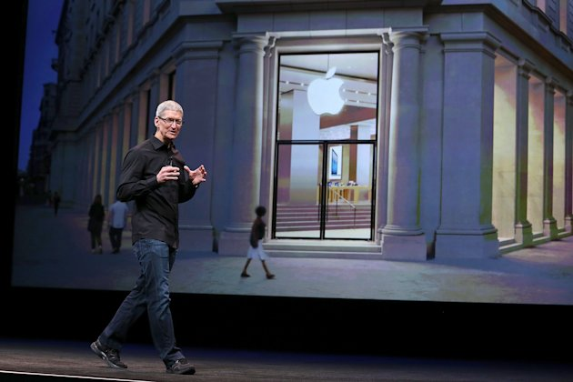 SAN FRANCISCO, CA - SEPTEMBER 12:  Apple CEO Tim Cook speaks during an Apple special event at the Yerba Buena Center for the Arts on September 12, 2012 in San Francisco, California. Apple is expected to announce the iPhone 5, the latest version of the popular smart phone.  (Photo by Justin Sullivan/Getty Images)
