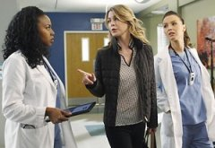Jerrika Hinton, Ellen Pompeo, Camilla Luddington | Photo Credits: Kelsey McNeal/ABC