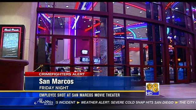 Employee shot at San Marcos movie theater