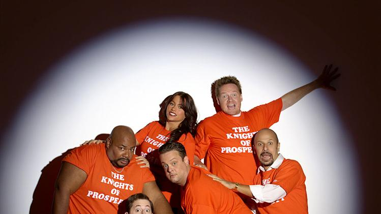 The cast of The Knights of Prosperity on ABC.