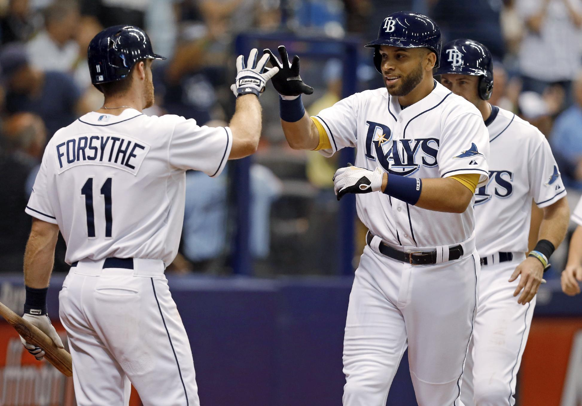Rays hit 3 homers in 12-3 victory over Blue Jays