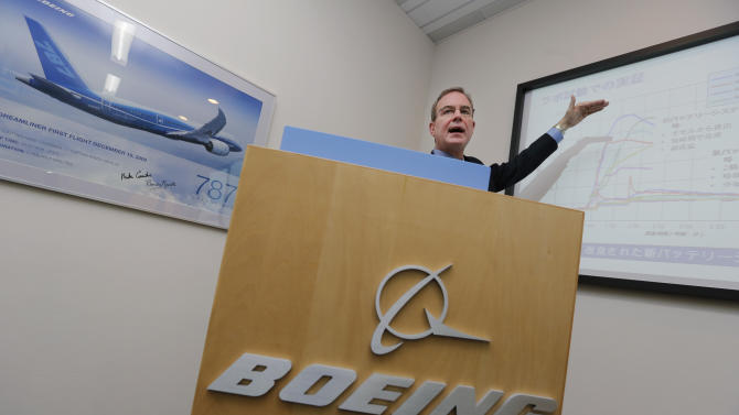 Boeing Co.'s chief engineer Michael Sinnett speaks during a press conference on Boeing 787 jets in Tokyo, Saturday, April 27, 2013. Sinnett said Saturday that changes to the lithium-ion battery system are fully sufficient to ensure the aircraft's safety, although the company has been unable to find the cause of the original battery failures earlier this year that led to groundings of the plane worldwide since mid-January. (AP Photo/Itsuo Inouye)