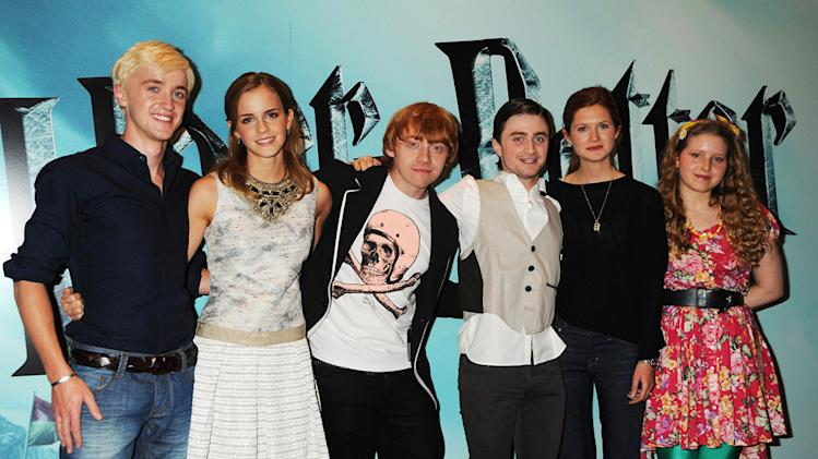 Harry Potter and the Half Blood Prince UK Photocall 2009 Tom Felton Emma Watson Bonnie Wright Jessie Cave Daniel Radcliffe Rupert Grint