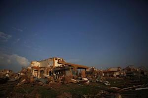 A destroyed home is seen in Joplin, Missouri