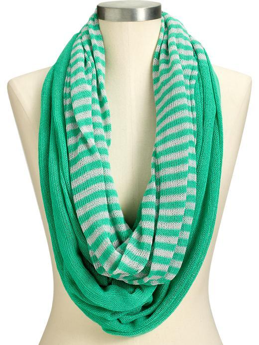 Women's Striped Infinity Scarves