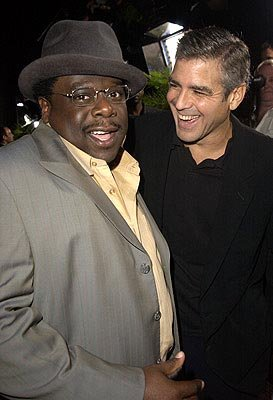Premiere: Cedric The Entertainer and George Clooney at the LA premiere of Universal's Intolerable Cruelty - 10/1/2003