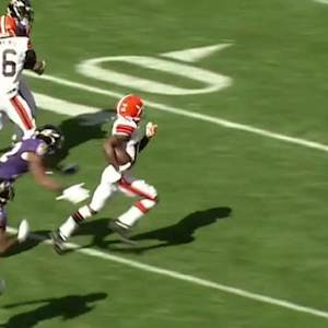 Cleveland Browns quarterback Brian Hoyer 70-yard pass to wide receiver Gabriel