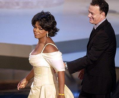 Oprah Winfrey and Tom Hanks Emmy Awards - 9/22/2002