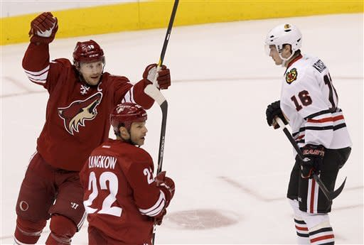 Chicago knocks off Phoenix 4-3 in overtime