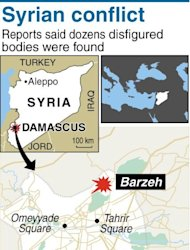 Map of the Syrian capital Damascus, locating Barzeh. Syria's government has welcomed any initiative for talks to end bloodshed in the country, after UN-Arab League envoy Lakhdar Brahimi said he had a peace plan acceptable to world powers