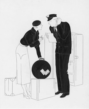 Illustration by Rovinsky, Vogue, December 1932