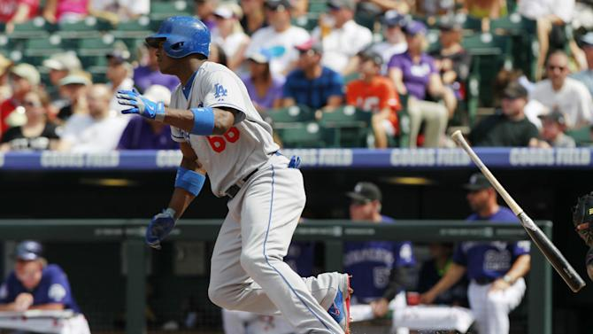 Kershaw hit hard, Dodgers top Rockies; Puig hurt