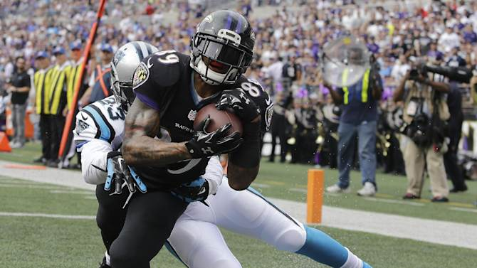 Steve Smith's second touchdown against the Panthers