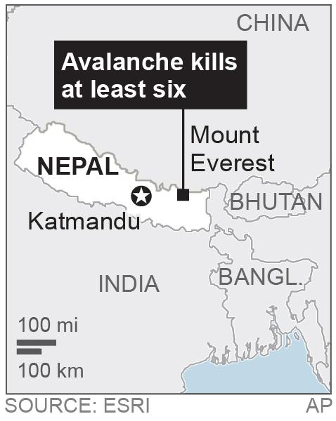 Map locates Mount Everest; 1c x 2 inches; 46.5 mm x 50 mm;