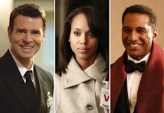 Scott Foley, Kerry Washington, Norm Lewis | Photo Credits: Randy Holmes/ABC;  Ron Tom/ABC; Vivian Zink/ABC