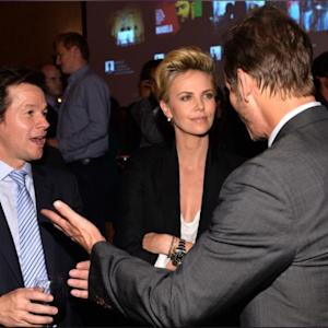 Charlize Theron & Mark Wahlberg Have A Cute Catch Up Sesh At The Lone Survivor After Party!