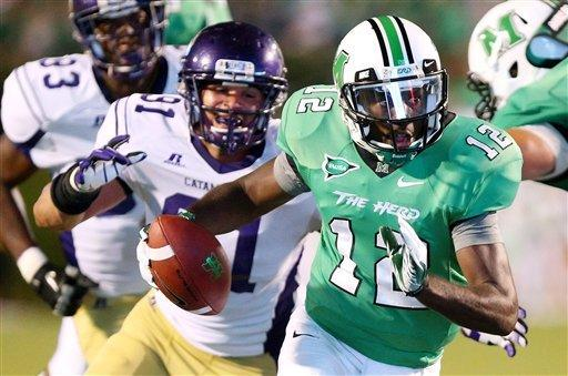 Marshall dominates Western Carolina 52-24