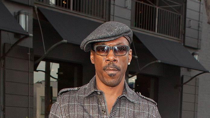 Eddie Murphy Shopping In Beverly Hills