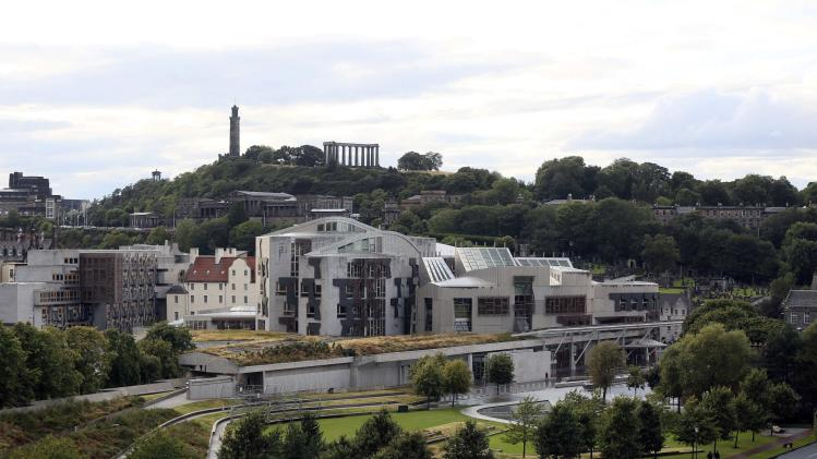 A view of the Scottish Parliament building in Edinburgh