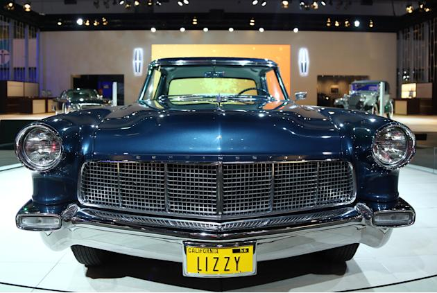 1956 Lincoln Continental Mark II is seen as part of Lincoln's Heritage on Display at the Los Angeles Auto Show press day, Wednesday, Nov. 28, 2012 in Los Angeles. This car was built especially for Eli