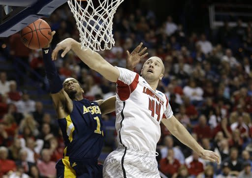 Top seed Louisville rolls to 79-48 rout of NC A&T