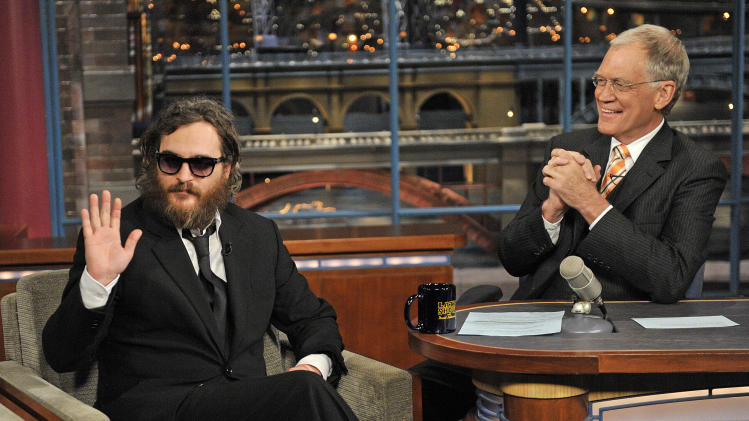 20 Classic 'Late Show' Moments We're Glad We Stayed Up For: Joaquin Phoenix interview in 2010