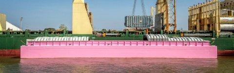 BNSF Logistics, LLC Works with Ceres Barge and Big Hope 1 to Raise Cancer Awareness Moving Large Transformer