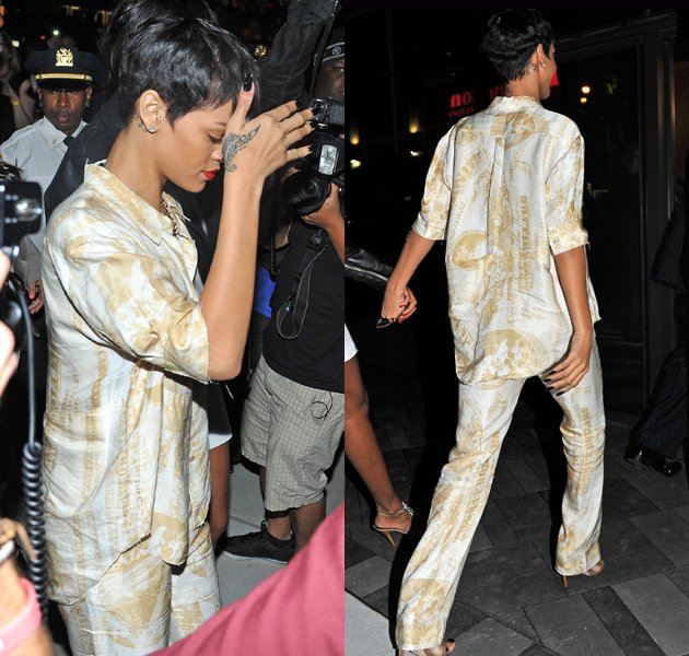 Rihanna, PJs, fashion