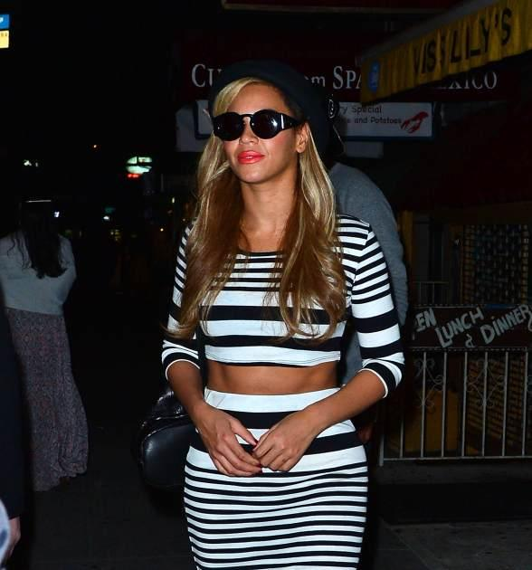 Beyonce spotted leaving Kayne West's birthday party at Miss Lily's on June 8, 2013 in New York City -- Getty Premium