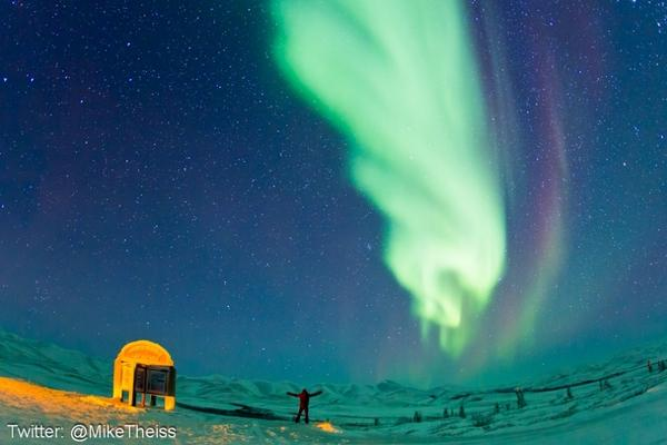 Photographer on Arctic Trek Snags Stunning Northern Lights Photos