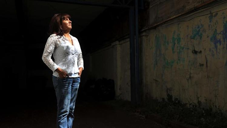Chilean presidential candidate Roxana Miranda of the Party for Equality poses for a picture, in Santiago on November 04, 2013