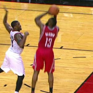 Rockets' Harden receives flop warning