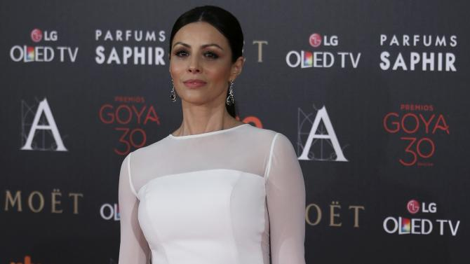 Actress Alvarez poses on the red carpet before the Spanish Film Academy's Goya Awards ceremony in Madrid