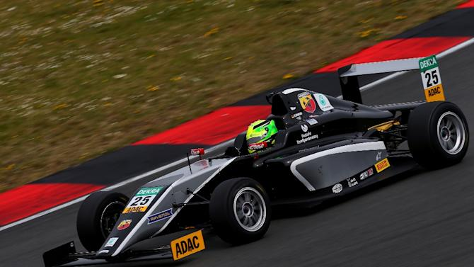 Mick Schumacher, son of former F1 champion Michael Schumacher, drives during the first race of the ADAC Formula Four championship in Oschersleben, Germany, on April 25, 2015