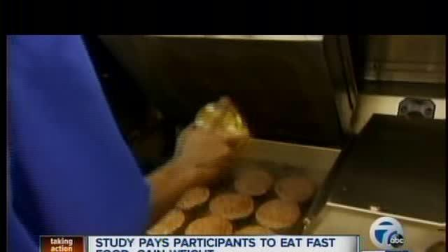 Paid to eat fast food