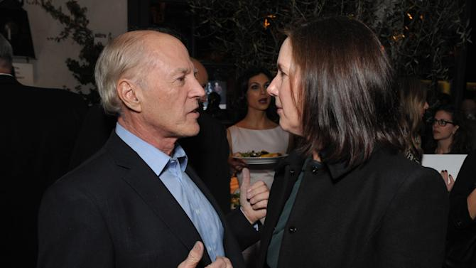 Frank Marshall, left, and Kathleen Kennedy attend The Hollywood Reporter Nominees' Night at Spago on Monday, Feb. 4, 2013, in Beverly Hills, Calif. (Photo by John Shearer/Invision for The Hollywood Reporter/AP Images)