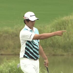 Sejun Yoon leads at the Lushan Open