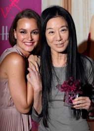 Vera Wang poses with her latest muse, Leighton Meester. Photo by Getty Images