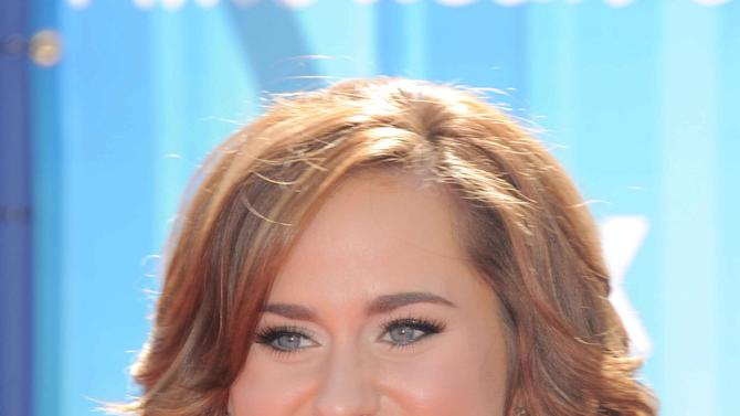 Skylar Laine arrives at the American Idol Finale on Wednesday, May 23, 2012 in Los Angeles. (Photo by Jordan Strauss/Invision/AP)