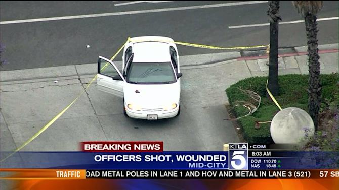 2 Officers Wounded in Ambush Outside Wilshire Station
