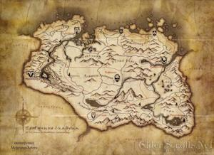 The Elder Scrolls V: Skyrim world map has been released