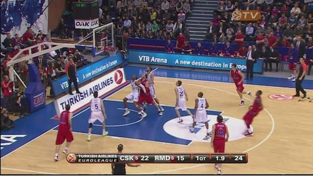 CSKA beat Real Madrid in Euroleague Basketball [AMBIENT]