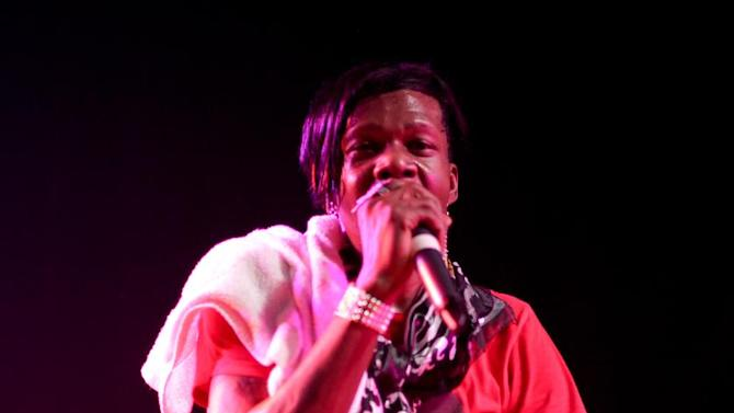"This 2012 image released by Ballin PR shows Big Freedia, whose real name is Freddie Ross, performing at The Mezzanine in San Francisco. The openly gay performer has landed his own show on the Fuse television network. ""Big Freedia: Queen of Bounce will focus on Ross and the New Orleans music scene known as ""bounce"" _ a fusion of hip-hop and quick, repetitive dance beats with heavy bass. Bounce music often includes call-and-response vocals, a nod to early rap and New Orleans Mardi Gras Indian roots music. Big Freedia is one of the few bounce artists with international exposure, having toured Europe, Australia and other countries as well as most of the U.S. The eight-episode series premieres Sept. 18. (AP Photo/Ballin PR, Beto Lopez )"