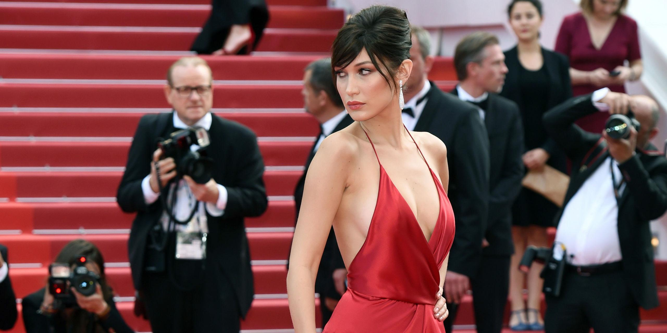 Bella Hadid's Stylist Reveals What Was Going On Underneath That Daring Red Dress