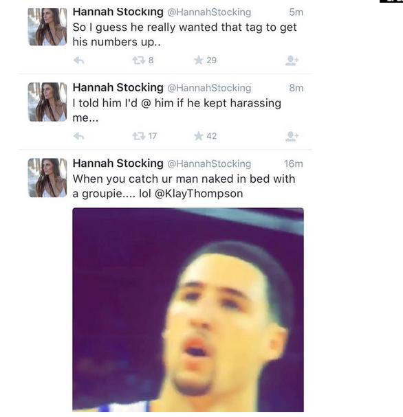 Klay Thompson's Girlfriend Accuses Him of Sleeping With a Groupie on Twitter